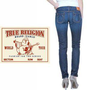True Religion Gwen Zipper Ankle Skinny Jeans - 26
